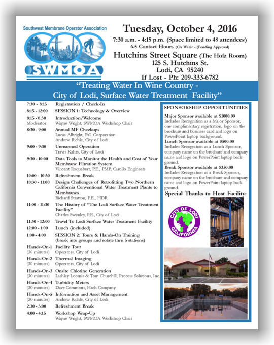 SWMOA Workshop - Oct. 4, 2016 - Lodi, CA @ Hutchins Street Square (The Holz Room) | Lodi | California | United States